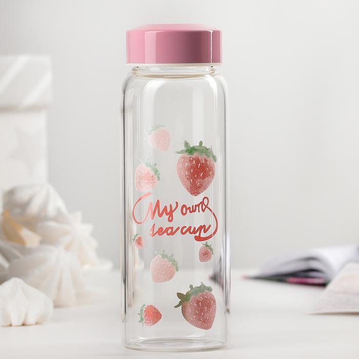 """Бутылка 350 мл """"Рай фламинго"""", рисунок МИКС"""