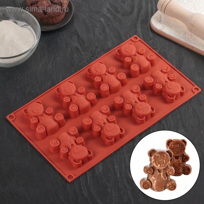 "Baking ""Animals. Bear"", 8 cells"