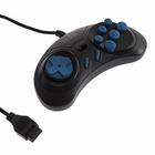 Геймпад Sega 16-bit, 6 кнопок, черный