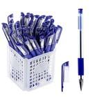 Ручка шариковая 0,5мм синяя, с резиновым держателем