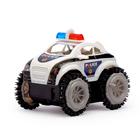 """Машина-перевертыш """"Полиция"""", работает от батареек, световые эффекты, в пакете"""