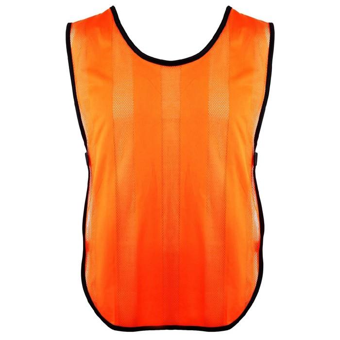 Манишка футбольная на резинке, цвет оранжевый