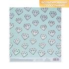 Бумага для скрапбукинга с фольгированием «Бирюзовые кристаллы», 15.5 × 17 см, 250 г/м