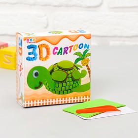 """Set for creativity """"Create 3D toy - Turtle"""""""