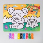"Mural with a color basis ""Koala"" 9 colors of sand 2 g"