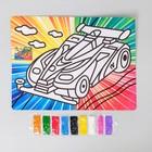 Фреска с цветным основанием