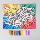 "Mural with color based ""Supercar"" 9 colors of sand 2 g"