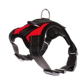 The soft harness with reflective elements size M (OSH 39-46 cm, OG 43-54 cm), red