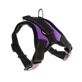 The soft harness with reflective elements size M (OSH 39-46 cm, OG 43-54 cm), purple
