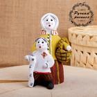 Сувенир «Баба с мальчиком», 8×8×15 см, каргопольская игрушка