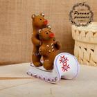 Сувенир «Два медведя в санях», 10×6,5×12 см, каргопольская игрушка
