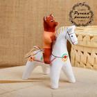 Сувенир «Медведь на коне», 11×6×12,5 см, каргопольская игрушка
