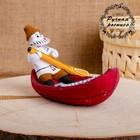 Сувенир «Рыбак», 14×10×9 см, каргопольская игрушка