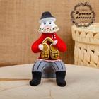 Сувенир «Мужик с лаптями», 6×7×12 см, каргопольская игрушка