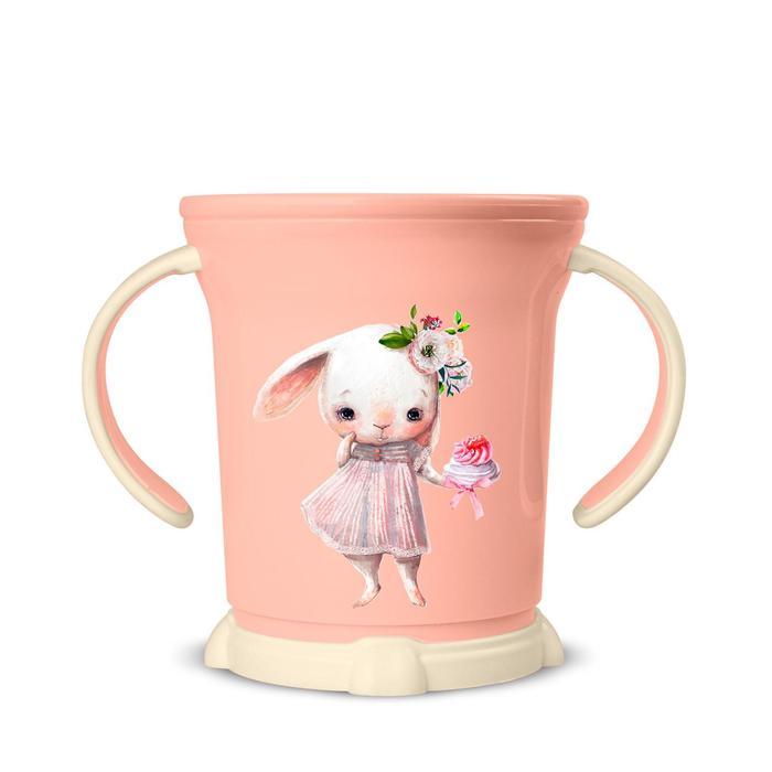 Кружка детская с декором, 270 мл, цвет розовый