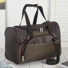 Сумка дорожная, отдел на молнии, 4 наружных кармана, длинный ремень, цвет коричневый