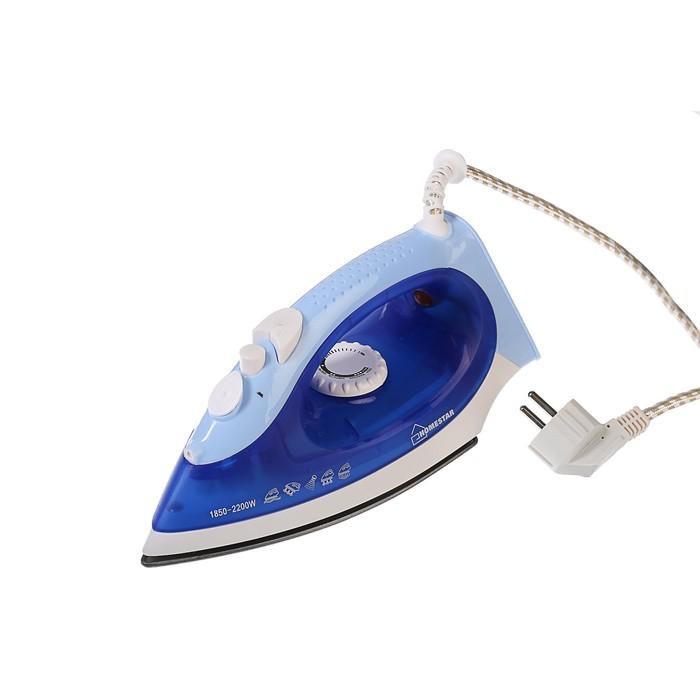 Утюг HOMESTAR HS-4002A, 2200 Вт, тефлоновая подошва, синий