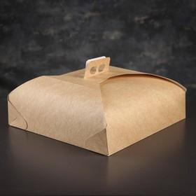 Упаковка для торта, премиум, BIO, 33 х 33 х 7 см