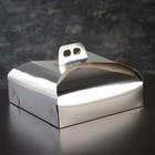 Упаковка для торта, премиум, серебро, 29 х 29 х 7 см - фото 206777701