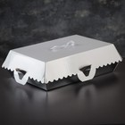 Коробка для пирожных, BON BON, премиум, серебряное основание, 27,5 x 18,5 x 10 см - фото 308035615
