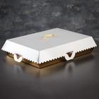 Упаковка для пирожных, BON BON, премиум, золотое основание, 32 x 22 x 10 см - фото 308035618