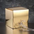 Упаковка для печенья, пасхи и кексов, премиум, золото, с лентой, 23 х 23 х 16 см