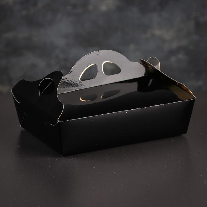 Упаковка для печенья и кексов, премиум, черно-золотая, 13 х 19 х 6 см - фото 271073998