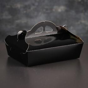 Упаковка для печенья и кексов, премиум, черно-золотая, 15 х 21 х 6 см