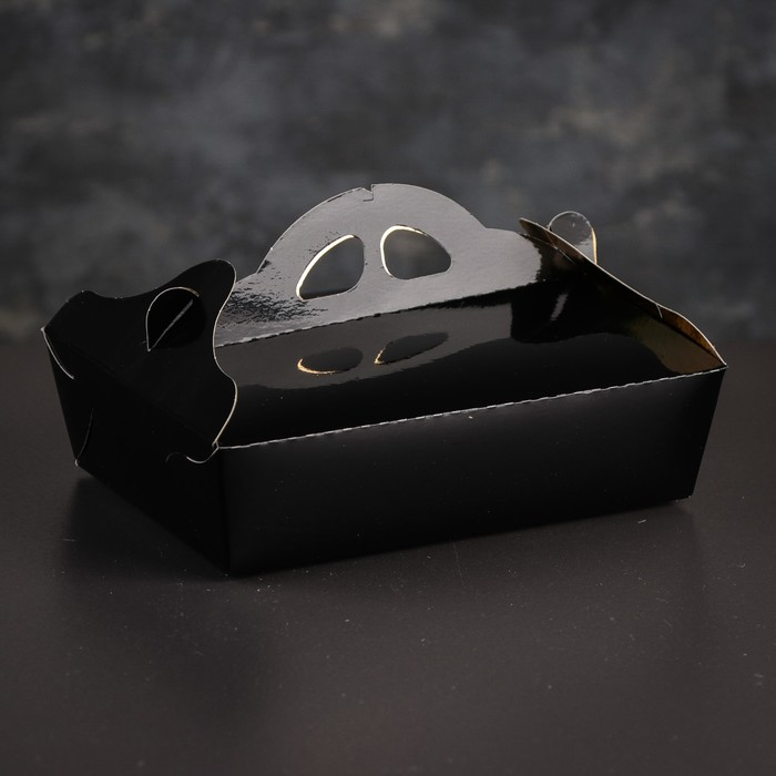 Упаковка для печенья и кексов, премиум, черно-золотая, 17 х 24 х 6 см - фото 286716946