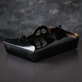 Упаковка для печенья и кексов, премиум, черно-золотая, 21 х 29 х 6 см