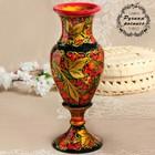 """Vase """"grace"""", 11×11×35 cm, Khokhloma"""