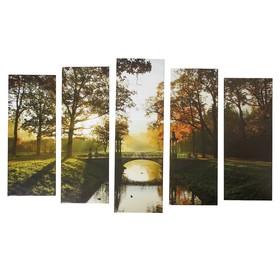 "Картина модульная на подрамнике ""Ранняя осень"" (2-25х63; 2-25х70; 1-25х80) 125х80см"