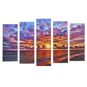 "Картина модульная на подрамнике ""Берег морской"" (2-25х63; 2-25х70; 1-25х80) 125х80см"
