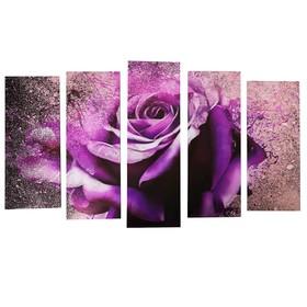 """Картина модульная на подрамнике """"Необычная роза"""" (2-25х63; 2-25х70; 1-25х80) 125х80см"""
