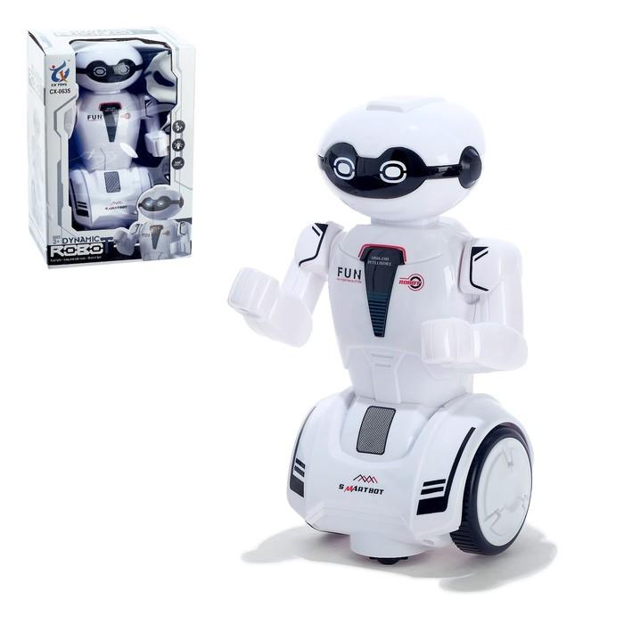 Робот «Шустрик», световые и звуковые эффекты, работает от батареек