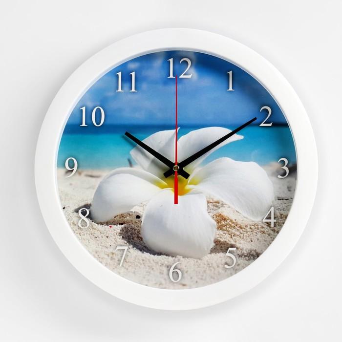 """Часы настенные круглые """"Цветок"""", 28х28 см"""