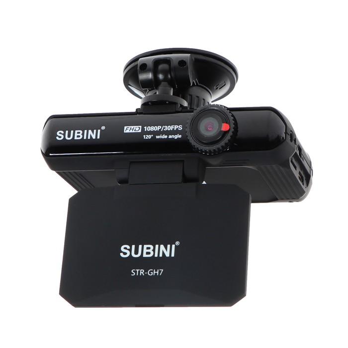 "Видеорегистратор + радар-детектор Subini STR-GH7,  2.7"", обзор 120°, 1920х1080"