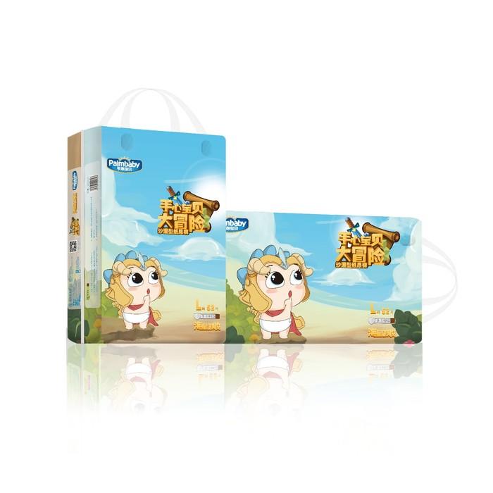Подгузники детские ЭлараKIDS Palmbaby Magic, по японской технологии, размер L, 52 шт. в упаковке
