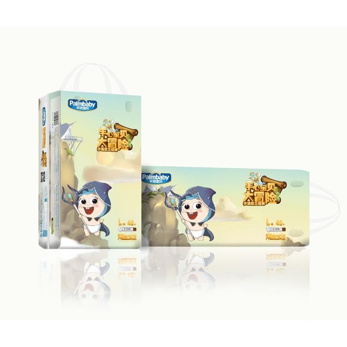 Подгузники-трусики детские ЭлараKIDS Palmbaby Magic, по японской технологии, размер L, 40 шт. в упаковке