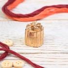 "Подарочный наперсток ""Подарок"" (золото), 1,7 х 1,7 х 2,8 см"