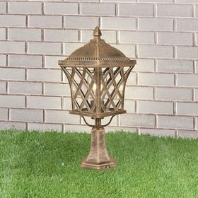 Светильник GL 1018S, IP44, 60 Вт, Е27, цвет черное золото