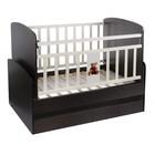 Детская кроватка «Мишки» на маятнике, с 2 ящиками, цвет венге/ваниль