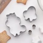 """Набор форм для вырезания печенья """"Белка"""", 4 шт - фото 308034538"""