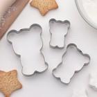"""Набор форм для вырезания печенья """"Мишки"""", 3 шт - фото 278733370"""