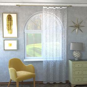 Штора кухонная арт.М436а 145х250 см, цвет белый, пэ 100%