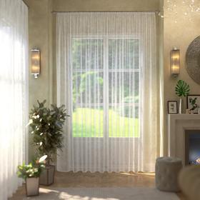 Штора кухонная арт.Т453 145х250 см, цвет белый, пэ 100%