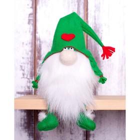 """Набор для изготовления игрушки из фетра с мехом """"Зелёный Гном"""" 15,5см   ПФГ-1552"""