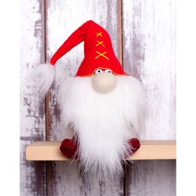 """Набор для изготовления игрушки из фетра с мехом """"Красный Гном"""" 15,5см   ПФГ-1551"""