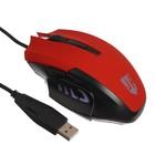 Мышь Jet.A Comfort OM-U54 LED, игровая, проводная, оптическая, 2400dpi, 5 кнопок,USB,красная