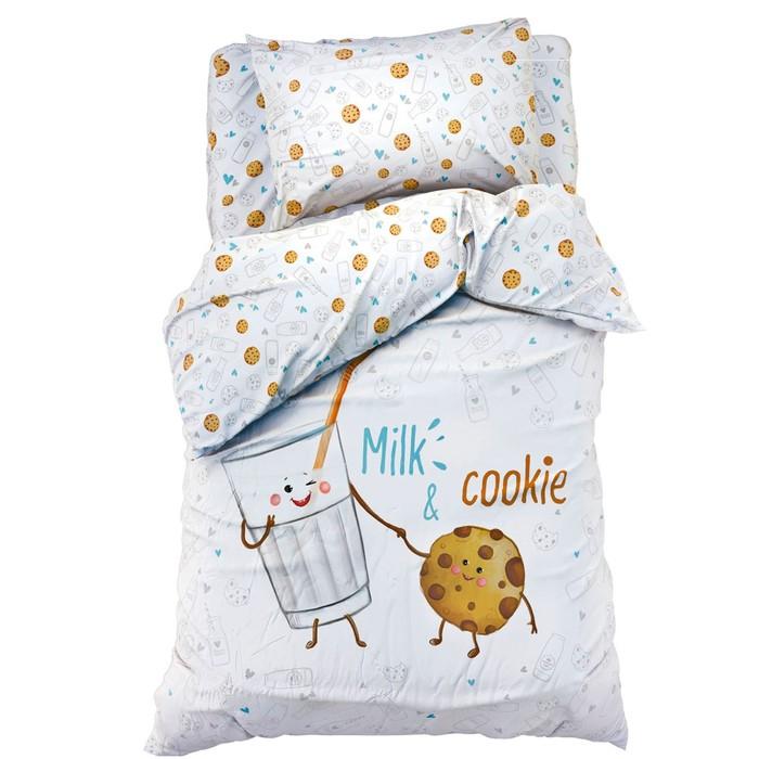 """Постельное бельё """"Этель"""" Milk&Cookie 143*215 см, 150*214 см, 50*70 см -1 шт, 100% хл, бязь 125 г/м2"""